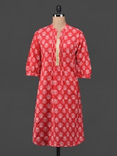 Ethnic Motif Printed Cotton Kurta - Taaga
