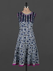 Batik Inspired Floral Printed Sleeveless Kurta - CRAZORA