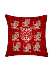 Red Lion Digitally Printed Cushion Cover - Mesleep