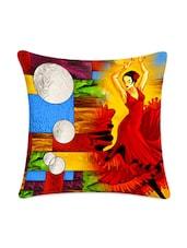 Moon Girl Print Digitally Printed Cushion Cover - Mesleep