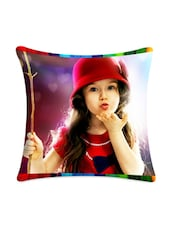 Flying Kiss Girl Digitally Printed Cushion Cover - Mesleep