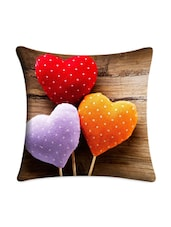 Polka Hearts Digital Printed Cushion Cover - Mesleep