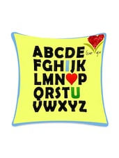 A - Z Digital Printed Cushion Cover - Mesleep