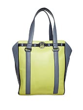 Lime Green Pure Leather Shoulder Bag - Phive Rivers