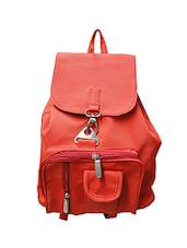 red leatherette backpack -  online shopping for backpacks