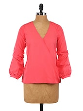 Pink Overlap Polyester Top - By