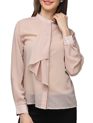 pink georgette shirt -  online shopping for Shirts
