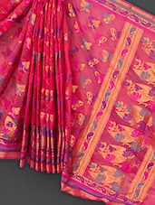 Red Art Silk Saree - Prabha Creations