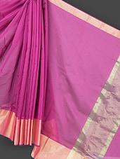 Pink Cotton Art Silk Saree - Prabha Creations