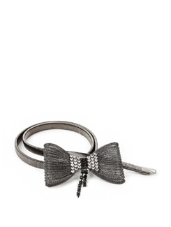Stretch Metal Mesh Studded Bow Belt - ROSETTA'S 11042