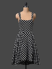 Sleeveless Polka Dots Printed Dress - The Vanca