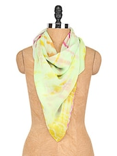 Mint Green Tie N Dye Viscose Stole - Shiborika
