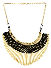 Black Alloy Necklace - By