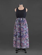 Floral Print Sleeveless Georgette Maxi Dress - G&M Collections