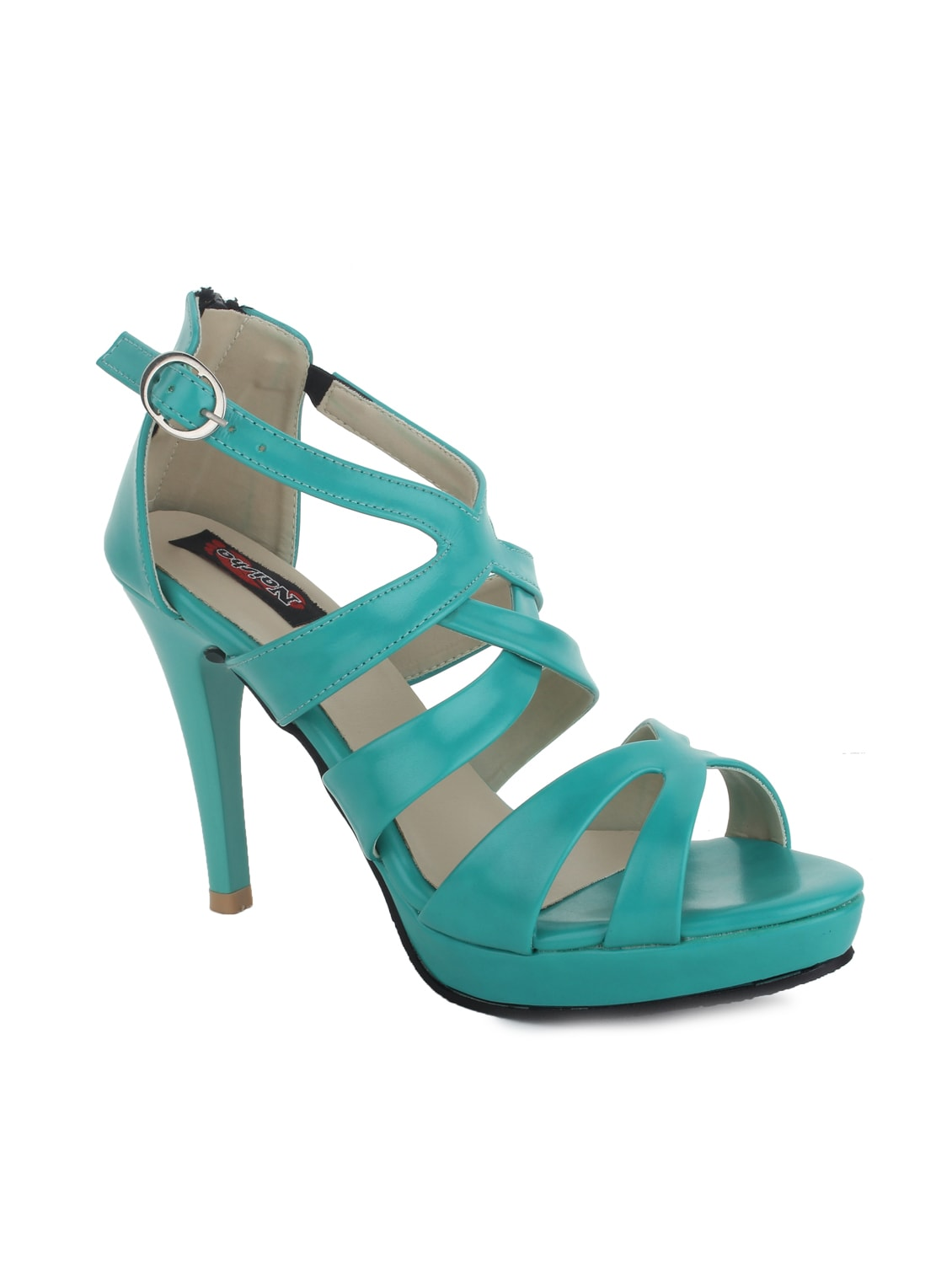 Buy 1 Get 1 Free On Footwear By Limeroad | green leatherette sandals @ Rs.1.259