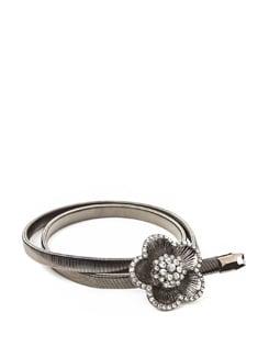 Dainty Flower Stretch Metal Belt - ROSETTA'S
