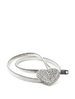 Studded Heart Stretch Metal Belt - ROSETTA'S 11062