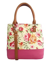 pink , white faux leather handbag -  online shopping for handbags