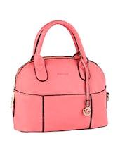 Solid Pink Leatherette Handbag - Mod'acc