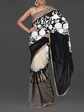 Floral Georgette And Net Evening Saree - Sellective