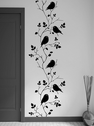 black vinyl wall decals & sticker -  online shopping for Wall Decals & Stickers