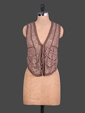 Brown Lace Top - URBAN RELIGION