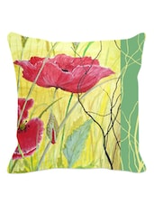 Multicolored Arty Floral Cushion Cover - Leaf Designs