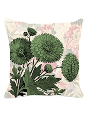 Green Floral Cushion Cover - Leaf Designs