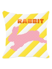 Multicolored Rabbit Striped Cushion Cover - Leaf Designs
