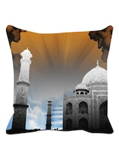 Taj Mahal Printed Cushion Cover - Leaf Designs