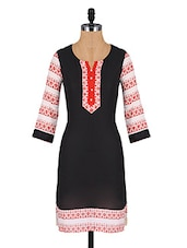 Printed Quarter Sleeves Cotton Kurta - Aaboli
