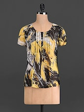 Multicoloured Printed Poly Chiffon Top - French Creations