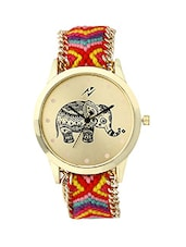 Yepme Women's Ribbon Watch - Golden/Multicolor -  online shopping for Wrist watches