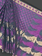 Black Zari Border Art Silk Saree - Prabha Creations
