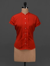 Solid Red Short Sleeve Shirt - NUN
