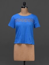 Solid Blue Boat Neck Top - NUN