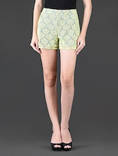 Lime Green Lace Shorts - NUN