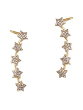 Cubic Zirconia Studded Star Ear Cuffs - Sixmeter Jewels