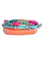 Multicolor Beaded Bracelet Set - THE PARI