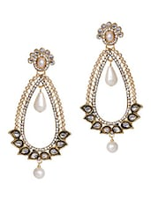 Kundankari Pearl Beaded Drop Earrings - THE PARI