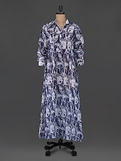 Buddha Print Poly Georgette Shirt Dress - Mansa