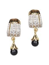 Gold Metallic  Earrings - Crunchy Fashion - 1112630