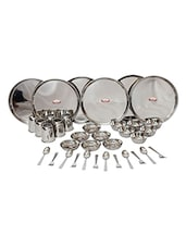 Shubham Stainless Steel Dinner Set, Set of 36 Pcs -  online shopping for Dinner Sets