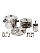 Shubham 15 Pcs IDLI Combo ( 20 Idlis / 7 Medu Wada) Stainless Steel Pressure Cookers -  online shopping for Cookware Sets