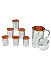 Copper Jug And Glass Set - Saga