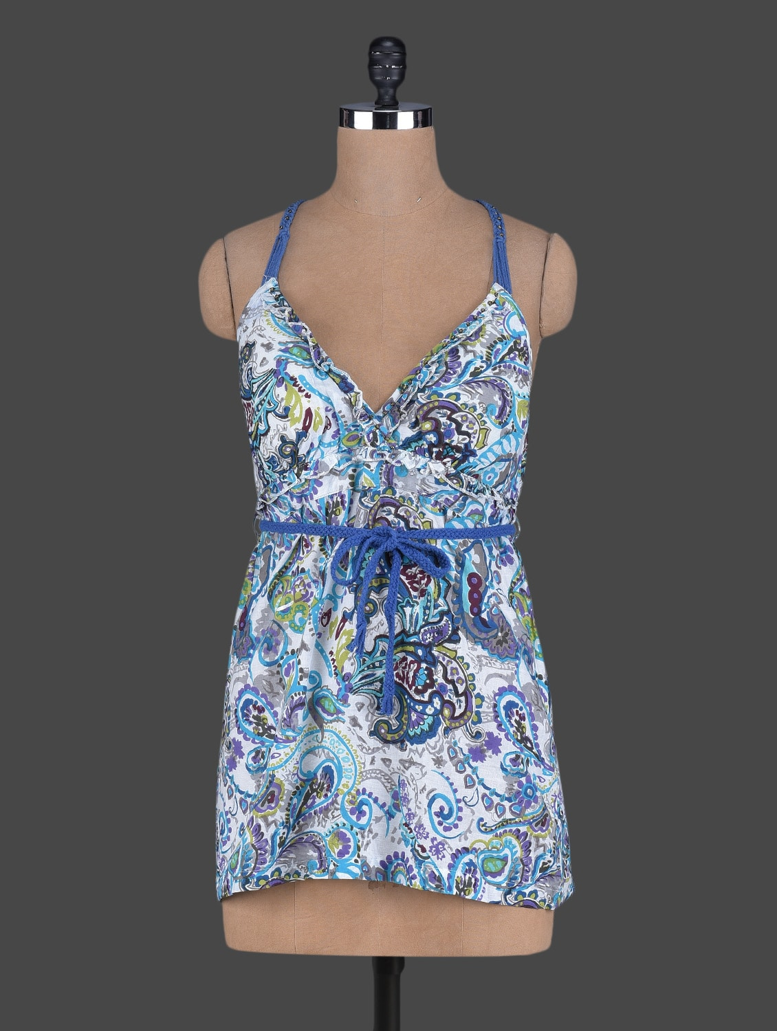 Paisley Print Camisole Neck Cotton Top - Holidae