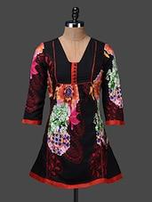 Quarter Sleeves Floral Print Tunic - Shakumbhari