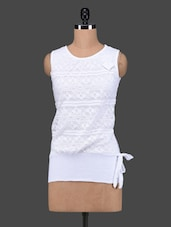 White Cotton Lace Sleeveless Top - 27Ashwood