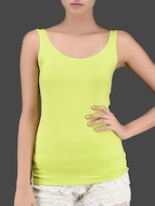 Viscose Neon Green Tank Top - Miss Chase
