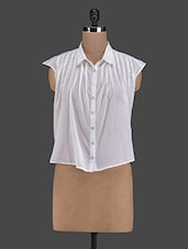 Pleated Asymmetric Cotton Shirt - I AM FOR YOU